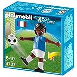 PLAYMOBIL 4737Sport und Action Fußball Player von Frankreich–Französisch Schwarz
