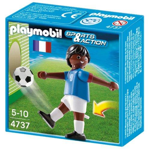 PLAYMOBIL 4737Sport und Action Fußball Player von Frankreich-Französisch Schwarz