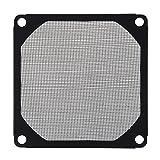 TOOGOO(R) 8cm x 8cm Filtro de malla a prueba de aluminio de ventilador refrigerador de PC Negro