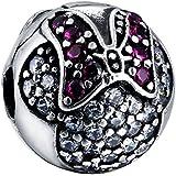 Crystal Minnie Mouse seguridad pendientes de plata Pandora Chamilia etc de charms pulseras collares