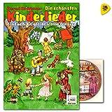 Die schönsten Kinderlieder einfach begleiten mit Gitarre - 34 der beliebtesten Kinderlieder - 34 vierfarbige Illustrationen und 32 vierfarbige Liederkarten zum Ausschneiden - Songbook mit CD und Plek