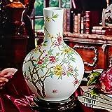 XIAOYAN Antike traditionelle Retro- Jingdezhen keramische Vasen reichen Blumen offene Hauptdekorationen große Vase ohne grundlegende Grafik als dekoratives Anzeigen-Geschenk für alle Raum-Wohnzimmer-Schlafzimmer-Eckschrank-Bücherregal