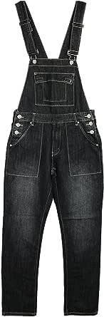 Mens New King Size Denim Dungarees Regular Leg in Black MID WASH Colours Sizes 30-70
