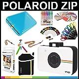 Polaroid : Pack cadeau ZIP Mobile + papier ZINK (30 feuilles) + Album thématique Snap + Pochette + 6 ciseaux à bordure + 100 cadres autocollant + Stylos gel colorés + Cadres à accrocher + Accessoires