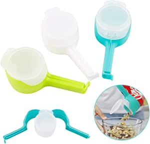 3PCS Bag Clip Sealing Clips Pour Food Clips Seal Striping with Discharge Nozzle Holes Bag Clips for Office and Kitchen: Amazon.co.uk: Kitchen & Home