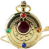 Orologio da tasca da uomo, stile retrò, colorato, serie Sailor Moon