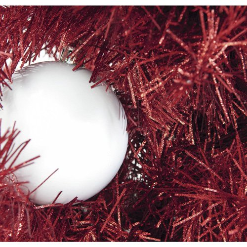 Euro Palms 83500552 Tannenbaum Futura 180 cm, rot/metallic