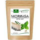 Té de Moringa 100% natural y vegano (opcionalmente Moringa-mezcla de hojas, manzana-canela, granada, jengibre, menta). 1A Cal