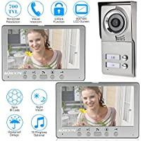 KKMOON 7 Zoll Gegensprechanlage Wired Video Phone Visuelle  Türklingel Legierung Türverkleidung mit 2 * 800 x 480 innen-Monitor + 1 * 700TVL Outdoor Kamera Unterstützen Infrarot-Night View Regendichte
