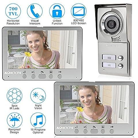 KKmoon 7 Inch Wired Vidéo Téléphone Système Visuel Interphone Sonnette
