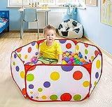 JxucTo tragbar, faltbar, für Babys/Kleinkinder, gepunktet, mit Kugel, für Kinder, bunt