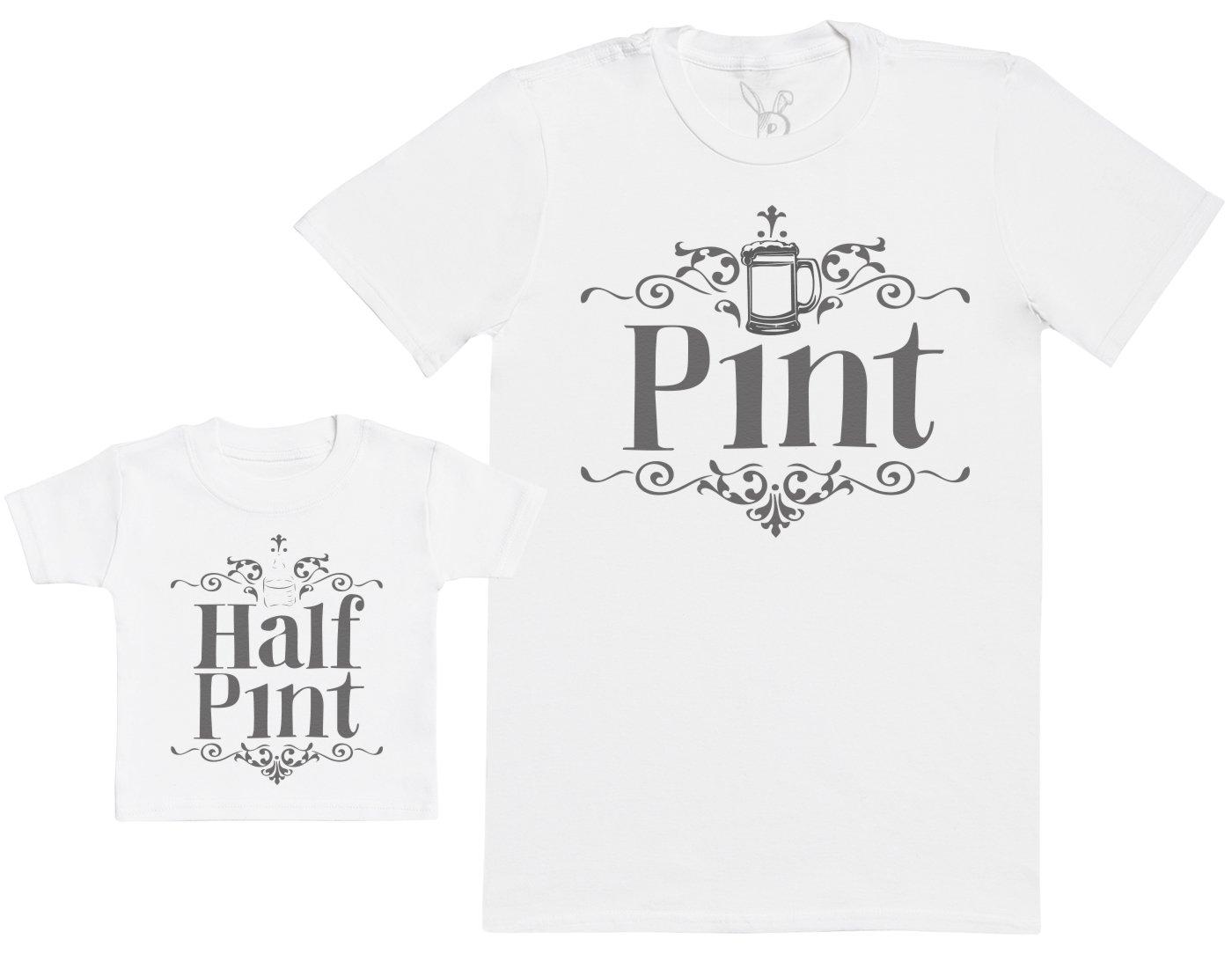 Half Pint - CREA tu Conjunto - Conjunto de Regalo para Padre y bebé - Camiseta de Hombre y Camiseta de bebé - (Cada una… 1