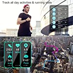 LETSCOM High-End Fitness Trackers HR, IP68 Waterproof Fitness Watch with Heart Rate Monitor, Step Counter, Sleep Monitor…