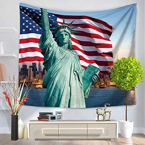 City Scenery Tapestry 100% poliestere–Memorecool telo mare casa appeso coperta ufficio coperte 149,9x 129,5cm, Poliestere, city34, 59x79inch city1