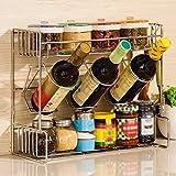 Küchenregale WSSF Küche Edelstahl Gewürz Haushalt Küche Multi-Layer-Zubehör Storage Rack(38,5 * 16 * 31,7 cm)