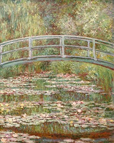 Bridge Over a Pond Of Water Lillies by Claude Monet Large Poster
