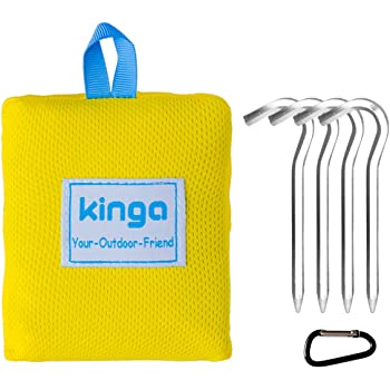KINGA Pocket Camping Blanket Lightweight Water Resistant for Picnic, Beach, Climbing Large Size Suitable for Outdoors Activities