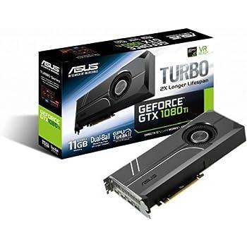 ASUS TURBO-GTX1080TI-11G - Tarjeta gráfica (11 GB de GDDR5, 1480 MHz, PCI Express 3.0 chipset, NVIDIA GeForce, para Gaming en 4K) Color Negro