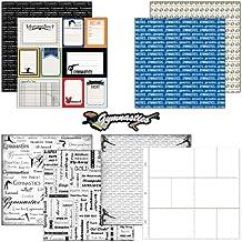 SCRAPBOOKING Douanes sur le thème papier et stickers kit de scrapbooking, journal de gymnastique