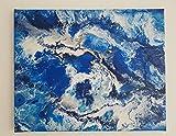 Acryl Fluid Painting VorticeAzul