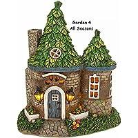 Solar Powered Illuminated Fairy Round Cottage / Dwelling Garden Ornament