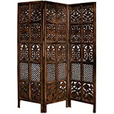 Aarsun Woods Traditional Handcrafted Wooden Partition Screen / Room Divider