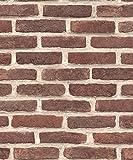 UGEPA Vliestapete Backsteinwand, dunkelrot, J66608