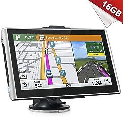 Kainuoa GPS Auto Schwergewicht Auto 7 Zoll Android System 4.4.2 Navigation 16 GB WiFi Bluetooth Bildschirm HD Touch Mapping Europa frei für Das Leben