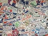 Lot de Stickers compagnies aériennes, Logos Avion, Voyage, tampons Passeport, Pays, Souvenirs, Stickers Valise, Bagage, Collection, aéroport, Douane, Monde, Album, vol, Billet (100)...