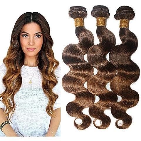 Virgin Brazilian Human Hair Body Wave Remy Hair Extensions Weft