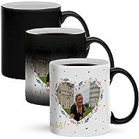 Mug magique personnalisé avec photo - Personnalisez ce mug magique original avec votre photo préférée pour surprendre…