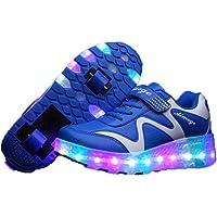 Ragazzi e Ragazze LED Scarpe da Ginnastica Luminose Quattro Stagioni Pattini universali Pattini in Pelle comode Scarpe…