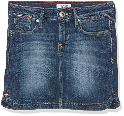 Tommy Hilfiger Mädchen Rock Naomi Denim Skirt Vmw, Blau (Vermont Mid Wash 911), 164 (Herstellergröße: 14)