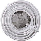 Byron 7200 kabel voor deurbel 9 meter met kabelklemmen, wit