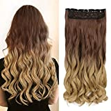 Neverland 24pulgadas (60cm) de Full Clip Tete en las extensiones de cabello ondulado pendientes...