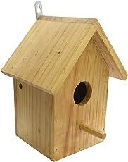 KSK Wooden Bird House for Sparrow Garden Bird