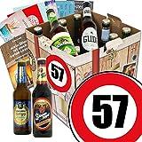Geschenk Ideen zum 57. für Männer | Biergeschenk Box mit Bieren aus Deutschland | INKL Bier Buch, GRATIS Geschenk Karten und Bier-Bewertungsbogen | Bierset und Biergeschenk | Individuelle Geschenk-Box - 57 | Biergeschenke für Männer | Besser als Bier selber machen oder selbst brauen Geburtstagsgeschenk Geburtstagsbier Geschenkideen für Manner lustige Geschenke Geburtstagsgeschenk Freund 57 zum Geburtstag Geschenkideen 57 Männer zum Geburtstag Geschenkideen 57
