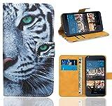 HTC Desire 626 626G Handy Tasche, FoneExpert® Wallet Case Flip Cover Hüllen Etui Ledertasche Lederhülle Premium Schutzhülle für HTC Desire 626 626G (Pattern 6)