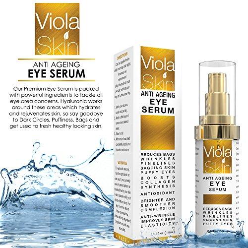 PREMIUM Anti Ageing Eye Serum for Dark Circles & Puffiness - Anti Wrinkle Eye Serum - Reduces Wrinkles, Bags, Saggy Skin & Puffy Eyes! High Quality Ingredients - Q10 - Matrixyl 3000 - Great Eye Treatment For All Types Of Skin. 100% Satisfaction