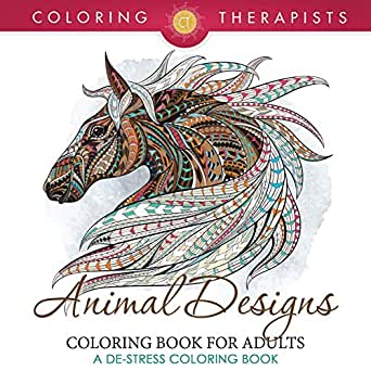 Animal designs coloring book for adults a de stress Coloring books for adults on amazon