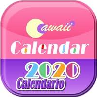España 2020 Cawaii Calendario para Fire tablet