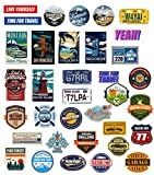 makstore 42 Stücke World Tour Aufkleber Set, Vintage Vinyl Stickers für Laptop Auto Motorrad Fahrrad Graffiti Patches Skateboard Pad Phone wasserdicht