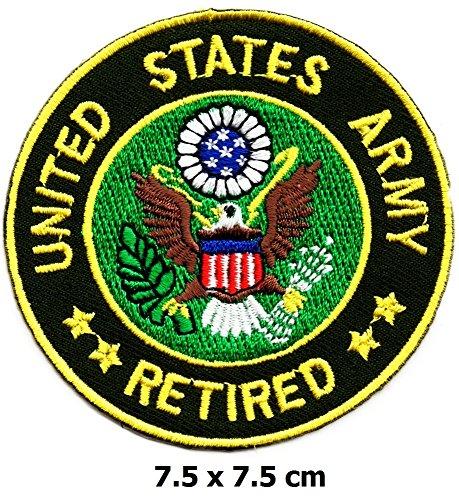United States Army Retired Patch Eisen auf Logo Weste Jacke Gap Hoodie Rucksack Patch Iron On/Sew On Patch -