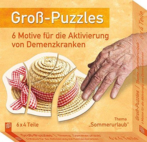 """Groß-Puzzles: Thema """"Sommerurlaub"""": 6 Motive für die Aktivierung von Demenzkranken"""