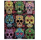 Colorvelvet 47x 35cm Têtes de Mort Dessin coloriage System (L, Multicolore)