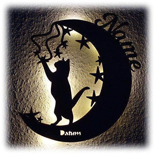 Mond Katze I Ein Lustiges Haustier Design