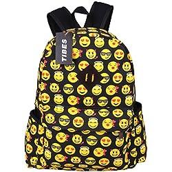 Tibes Mochila escolar Mochila Emoji de estudiante Cute Bolsas Mochila para niños Multicolor 1