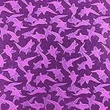 Halloween Ghosts violett Design 100% Korean Baumwolle Super