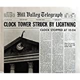 Zurück in die Zukunft Zeitung Prop Replica Nachbildung Uhr Tower 38,1x 53,3cm. USA–1985–Robert Zemeckis