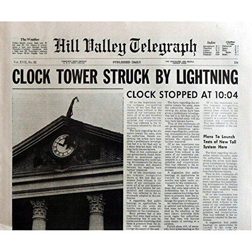 BACK TO THE FUTURE-Giornale riproduzione del Tower 15 x 21 in. USA-1985-Robert Zemeckis, Michael J. Fox